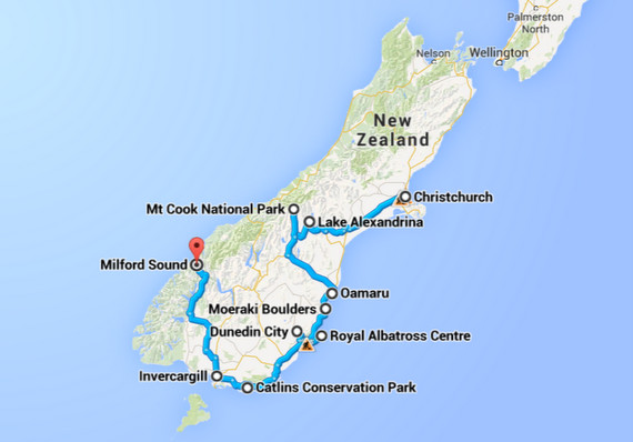 best south island new zealand road trip route