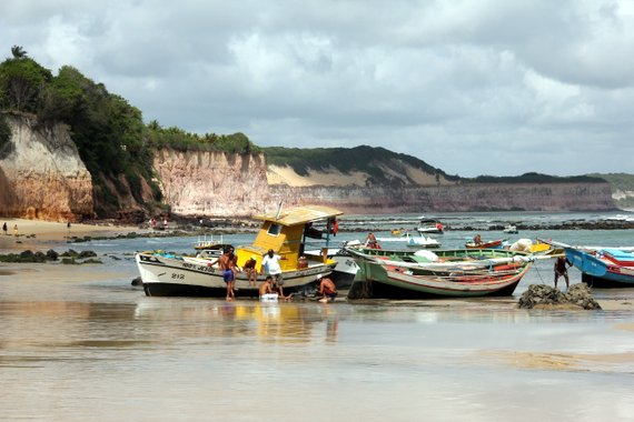 Fishing boats in Praia de Pipa