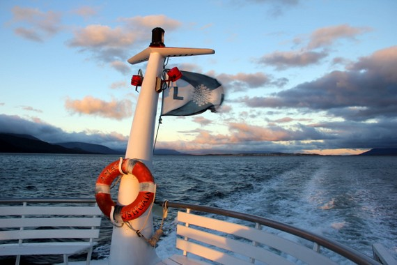 Boat down the Beagle Channel in Ushuaia