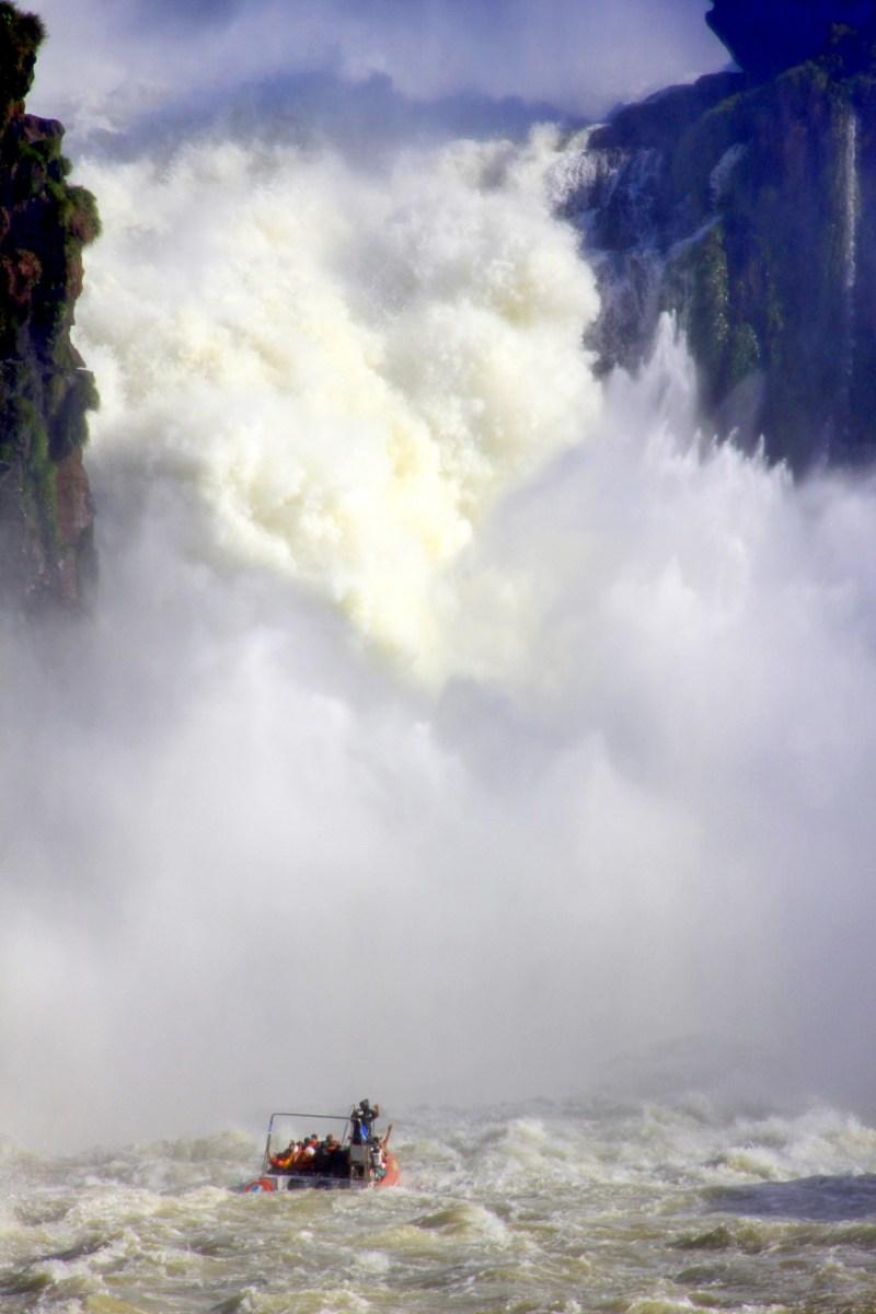 Iguazu Falls zodiac ride