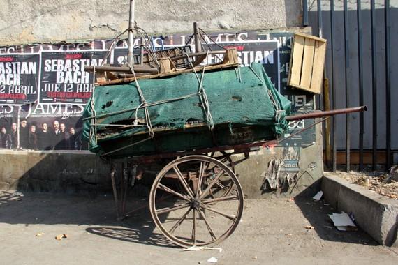Food cart in Santiago Chile