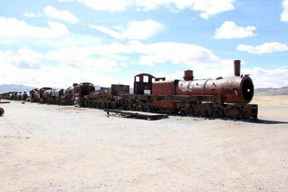 Train Graveyard on the outskirts of Uyuni Bolivia