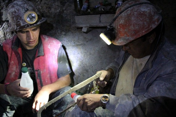 """To get a sense of miner culture, we went to their underground """"church Potosi Mine Tour"""