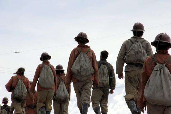 Headin home from the Potosi Mine Tour in Bolivia