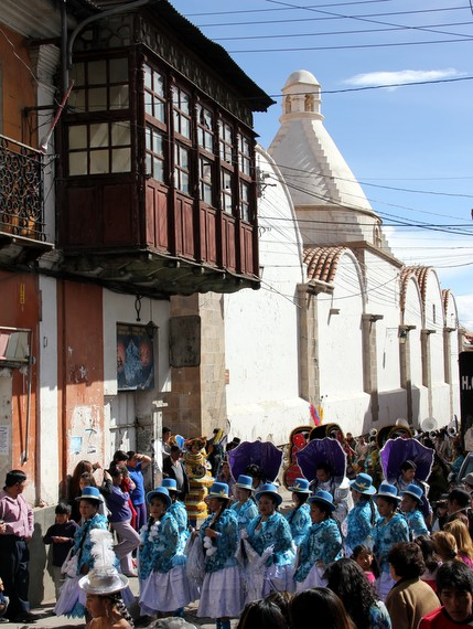 Saint Day Parade in Potosi Bolivia