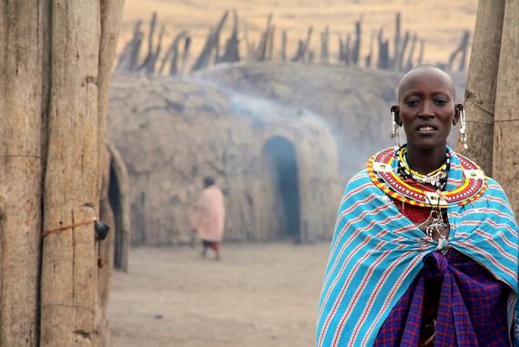 Ngorongoro Crater, Masai Village, Tanzania