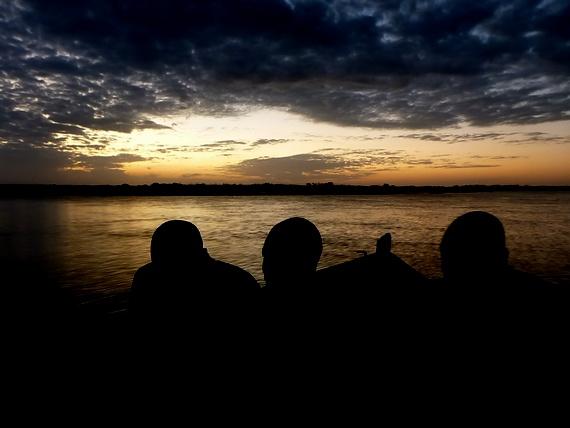 border crossing by boat to Tanzania