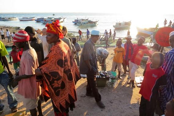 Ilha de Mozambique fish market