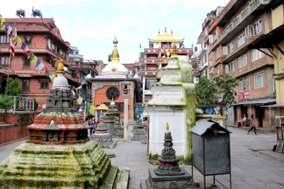 Temples and Stupas in Kathmandu, Nepal