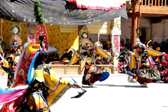 Dancers at the Gedong Mask Festival
