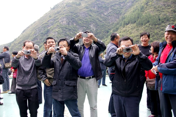 Chinese people taking our photograph