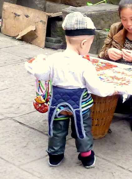 Chinese diaper pants on a child