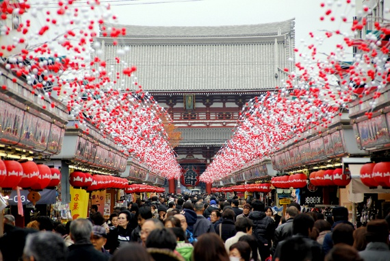 Shops at Sensō-ji temple Tokyo
