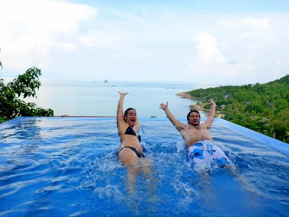 Ashley and Scott infinity pool Thailand