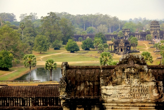 View from the top of Angkor Wat, Cambodia
