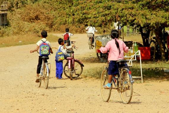 little kids on big bikes
