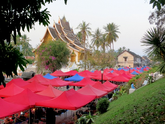 Th Sisavangvong is the main vein of the old quarter