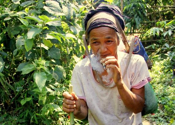 Lahu Villager Smoking