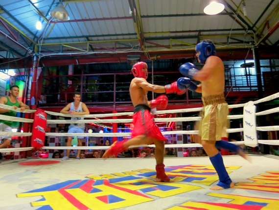 Muay Thai kickboxing for beers