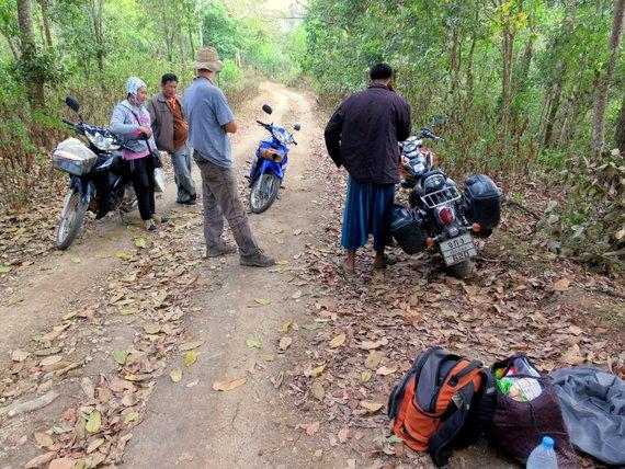 Motorcycle breakdown in Thailand