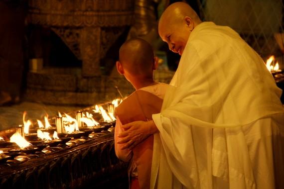 Lady Monk in Yangon