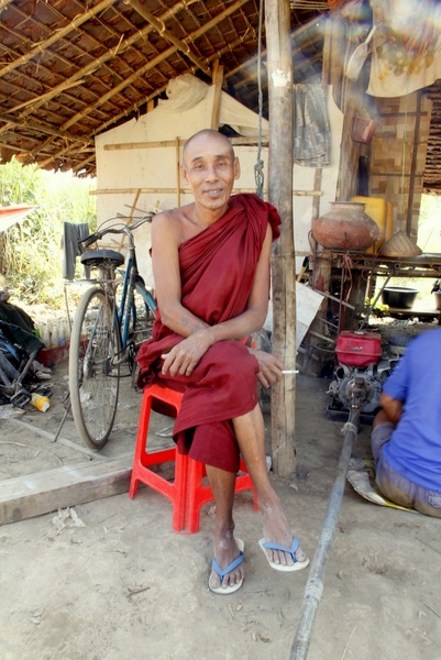Smoking Monks in Myanmar