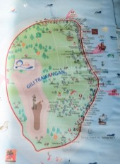 Map of Gili T, Indonesia