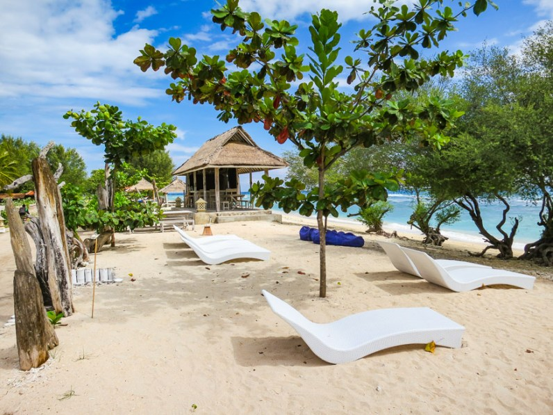Chillin on the beach at Gili Eco Villas