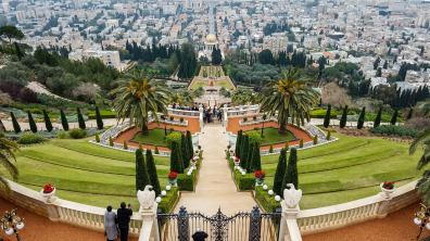 One of the most sacred places in the Baha'i religion and the arguably the prettiest garden in the Middle East...the Haifa Baha'i gardens.