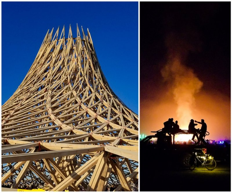 before and after burning man temple