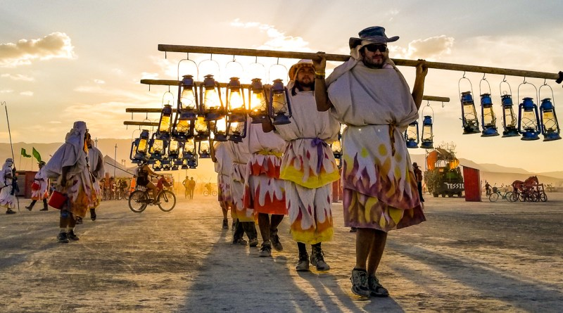 The lamplighters at Burning Man