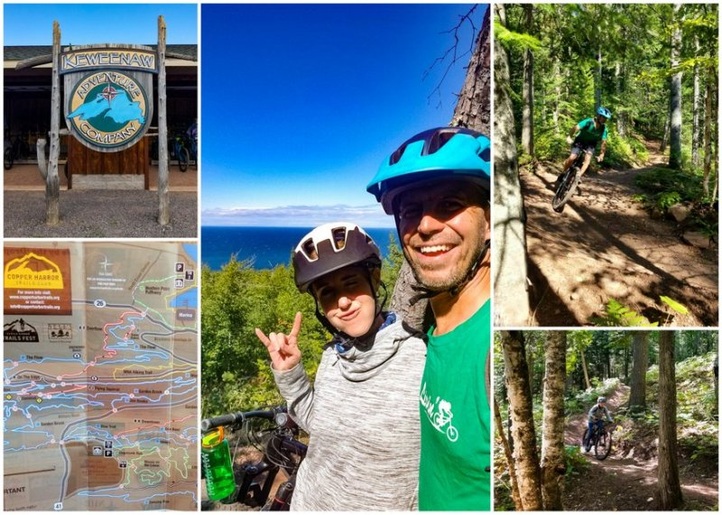 Mountain biking Copper Harbor