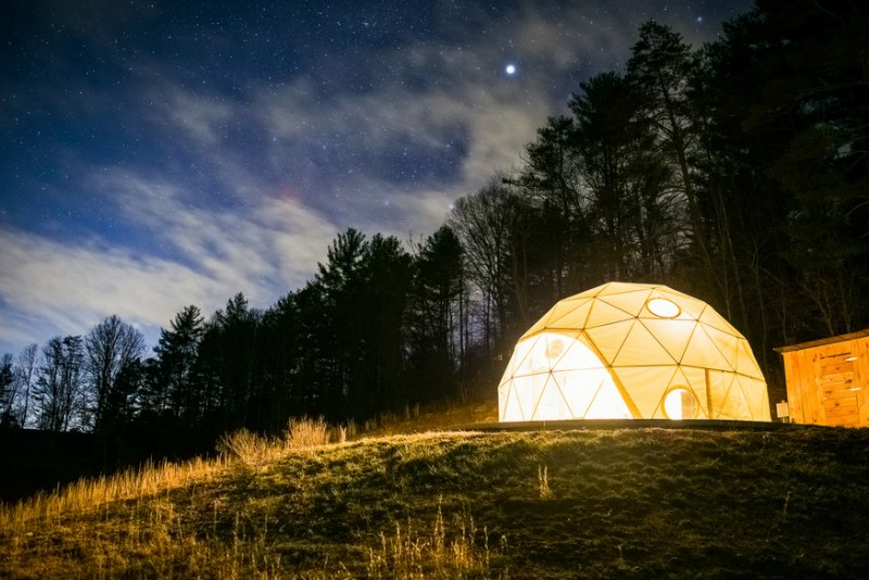 Asheville Glamping Domes