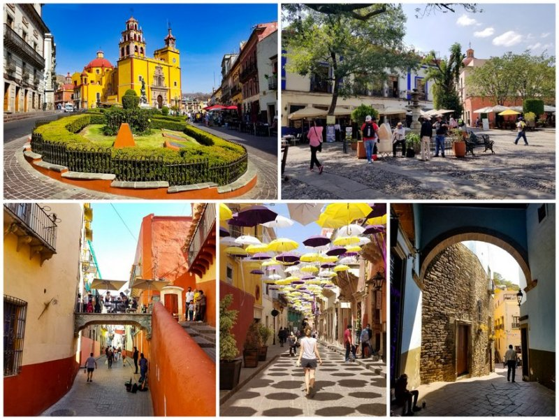 Plazas of Guanajuato Mexico