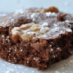 Fudgy Walnut Brownies… for my new baby!  (REDUCED FAT & 155 Calories)