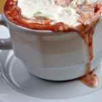 Red Velvet Hot Cocoa with Whipped Cream Cheese Frosting (REDUCED FAT)