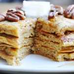 Healthy Whole Wheat Pumpkin Pie Pancakes… post-Thanksgiving morning!