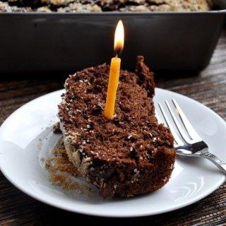 Dark Chocolate Coconut Banana Bread… birthday part 1 (lightened up)