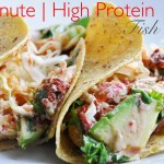 15 Minute Fish Tacos with Chipotle Sauce