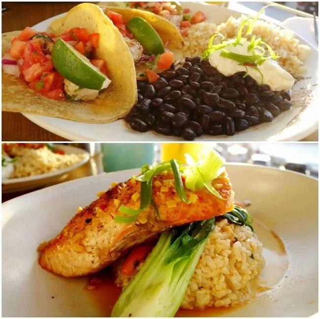 Grilled FIsh Tacos & Ginger-Chili Salmon - Brockton Villa La Jolla