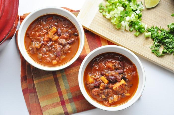 Sweet Potato Bean Chili Healthy Vegan Gluten Free High Protein High Fiber Honey Whats Cooking