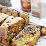 Pumpkin Chocolate Chip Bread (100% whole wheat + healthier)