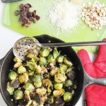 Cranberry Almond Roasted Brussels Sprouts (gluten-free, healthy)