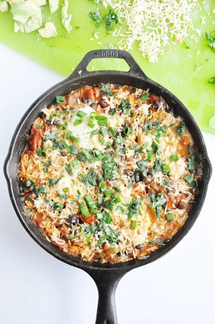 Black Bean Mexican Skillet Eggs (46)