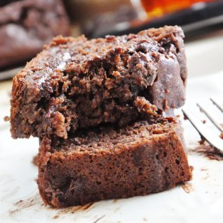 Double Chocolate Banana Bread (refined sugar free, lightened up, antioxidants, 100% whole wheat)
