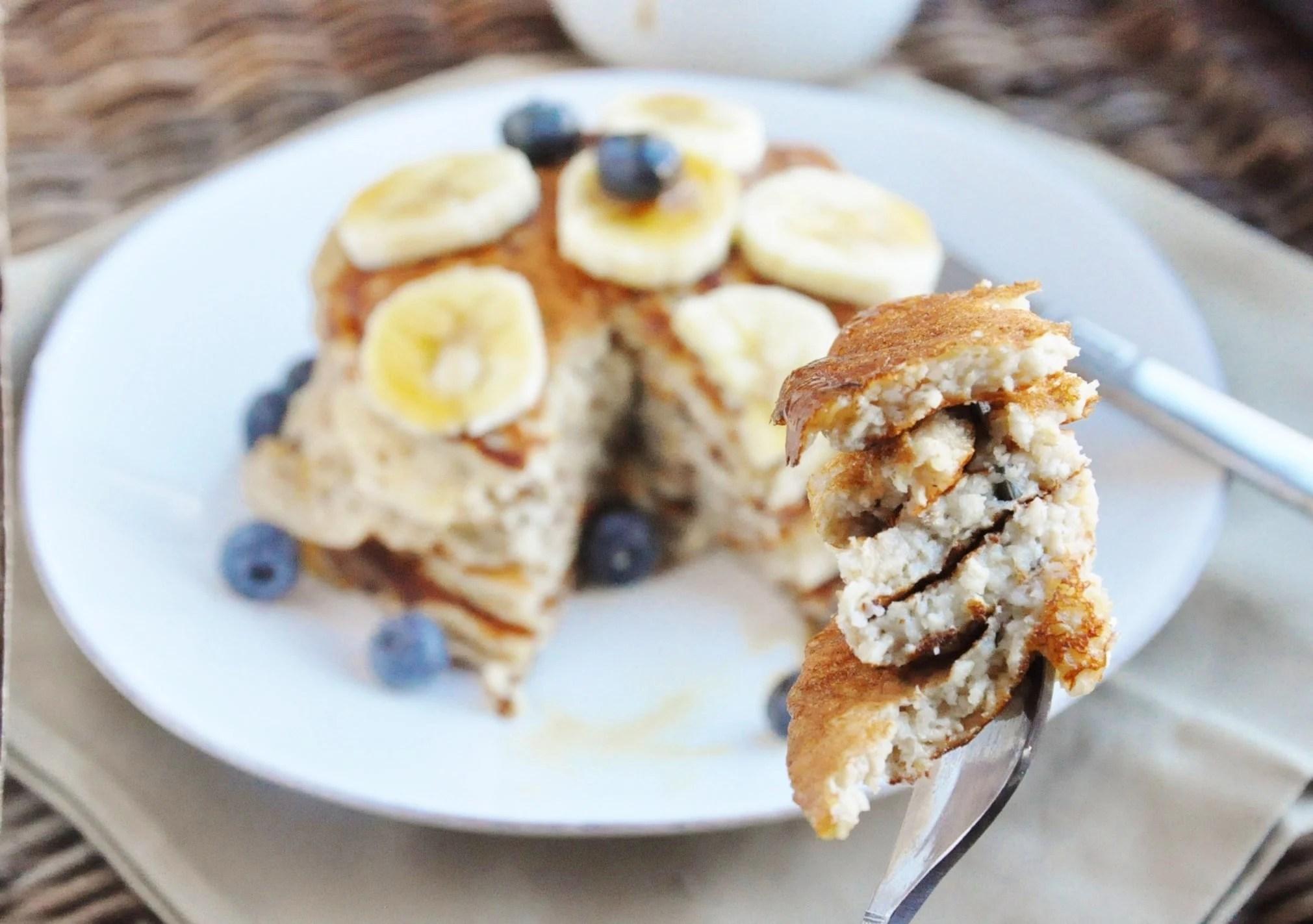 High Protein Banana Bread Pancakes (13)