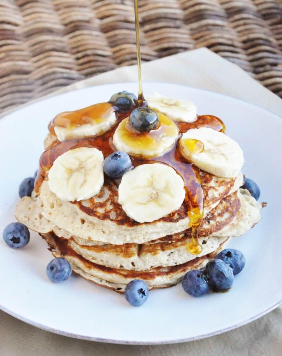 High Protein Banana Bread Pancakes (8)