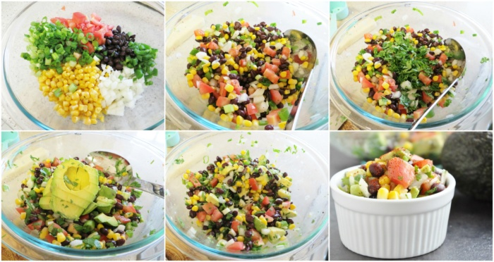 Black Bean, Corn & Avocado Salad step-by-step