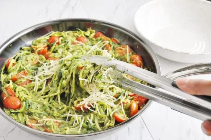Avocado Pesto Zucchini Noodles