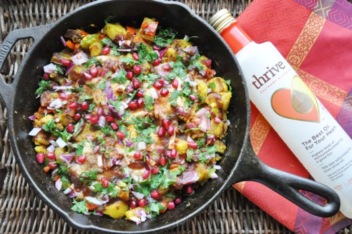 Chaat Masala Eggs and Potato Hash